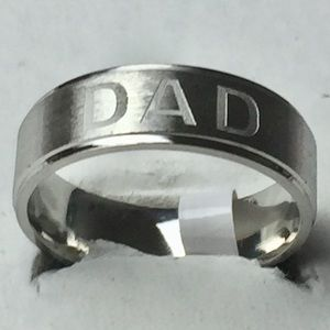 Sz 11 Stainless Steel Dad Ring